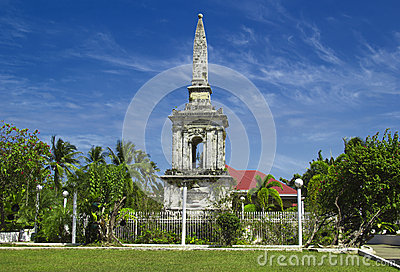 Historical Magellan monument at Philippines islands