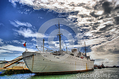 The historical medical ship Gil Eanes in Viana do Castelo, Portugal