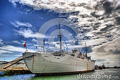 The historical medical ship Gil Eanes in Viana do Castelo, Portugal