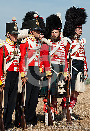 Historical military uniform of British army Editorial Photography