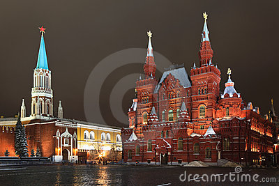 The Historical museum in Red square, Moscow