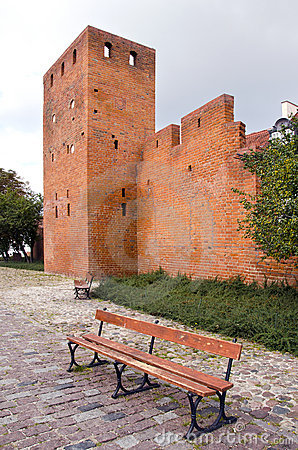 Historical old town border in Warsaw