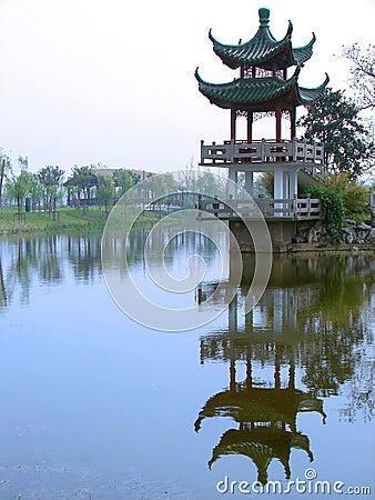 Historical pagoda in Shanghai