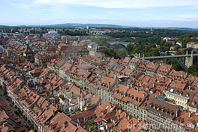 Historical part of Bern from above