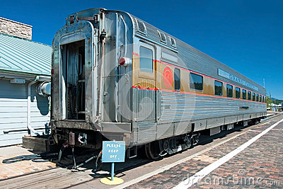 Historical passenger car in Grand Canyon National Park