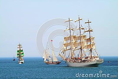 HISTORICAL SEAS TALL SHIPS REGATTA 2010 Editorial Photography