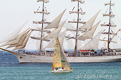 HISTORICAL SEAS TALL SHIPS REGATTA 2010 Editorial Photo