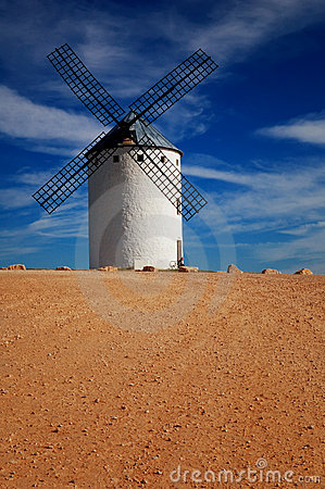 Historical Spanish windmill