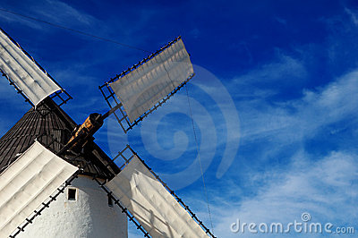 Historical Spanish windmill detail