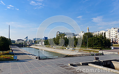 Historical square Iset river  Yekaterinburg
