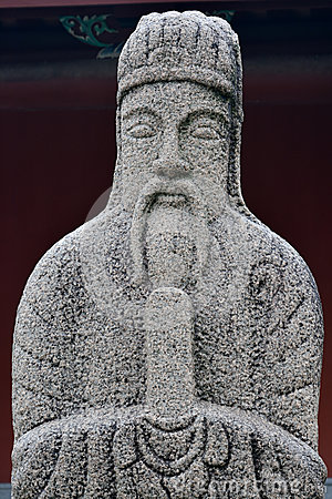 Historical statue of officer in Ancient China