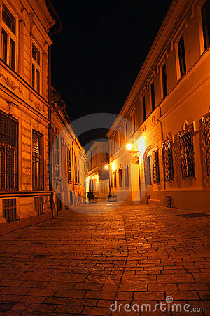 Free Historical Street In A Night Stock Images - 7938594