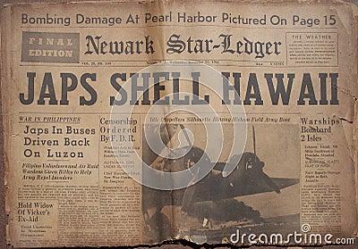 Historical World War Headlines