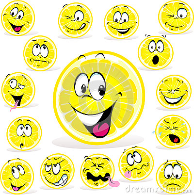 Historieta del limón con muchas expresiones