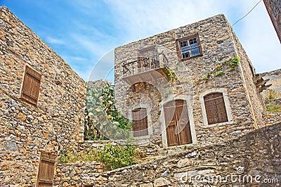 Historisch huis voor lepralijders op eiland spinalonga stock foto 39 s afbeelding 19872803 - Beeld van eigentijds huis ...