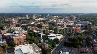Historische gebouwen Luchtvaartvooruitzichten Lexington Virginia USA stock videobeelden