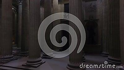 Historisches Denkmal arhitektury stock video