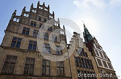 Historiska facades på Munster