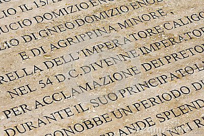 History of Ancient Rome Engraved on Marble