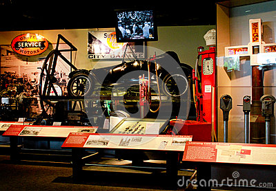 History of Automobiles at Smithsonian, Wash. DC. Editorial Stock Image