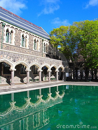 Free History Building In Christchurch (Mirror) Stock Photography - 3694032