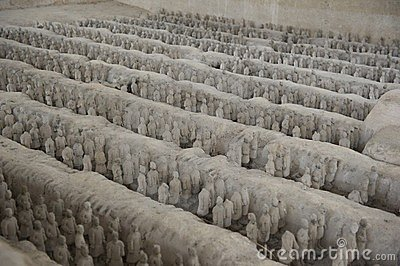 History China miniature terracotta army clay Shenz