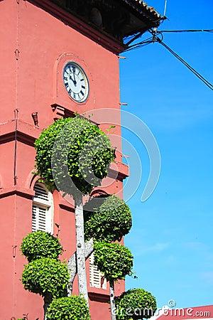 History Clock Tower In Melaka