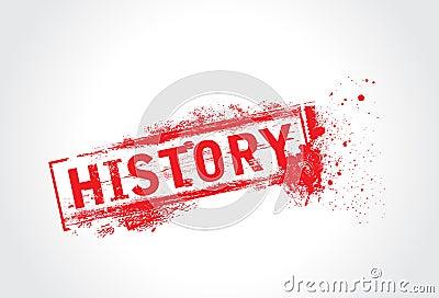 History grunge text