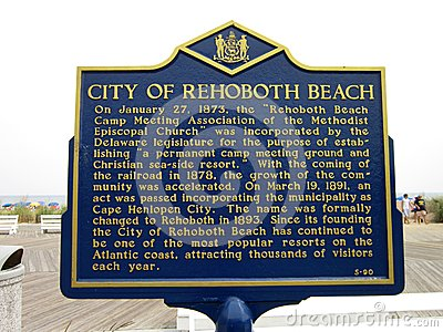 History of Rehoboth Beach Editorial Image