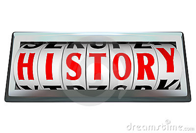 History Word in Odomoter Dial Bar