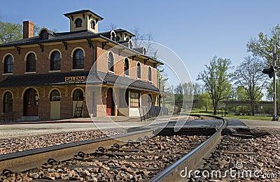 Historyczna linii kolejowej zajezdnia