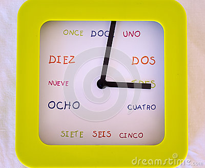 Hiszpańszczyzna zegar