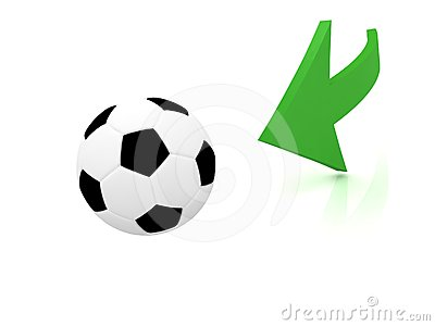 Hit the ball in soccer