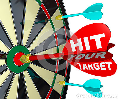 Hit Your Target Dart on Dartboard Achieve Success