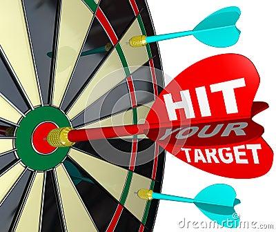 Hit Your Target Dart on Dartboard Achieve Success