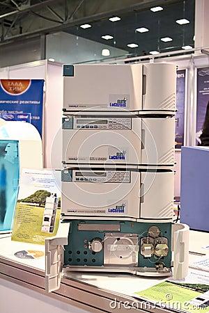 Hitachi liquid chromatograph Editorial Image