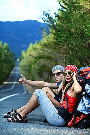 Free Hitchhiking Royalty Free Stock Photo - 16356805