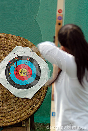 Archery. Aim at the target Editorial Photography