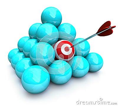 Free Hitting The Target - Marketing Pyramid Royalty Free Stock Photos - 9578988