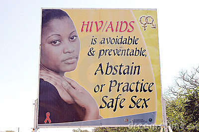 HIV AIDS zambian information Editorial Stock Photo