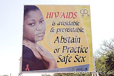 HIV AIDS zambian information Editorial Stock Photo