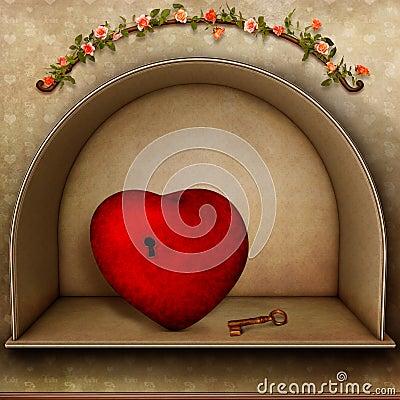 Hjärta med nyckel-