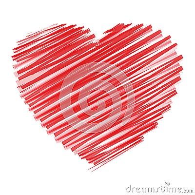 Hjärta klottrar