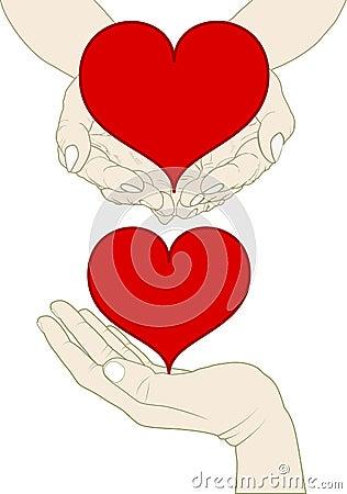 Hjärta på handen