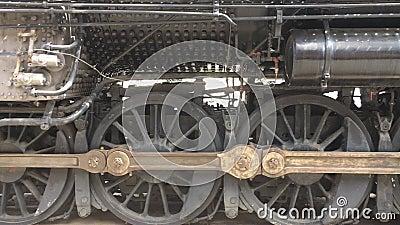 1926 hjul för drev för ångalokomotiv arkivfilmer