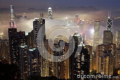 HKG at night