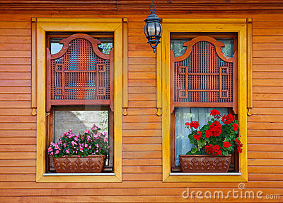 Hölzerne Fenster der Osmane