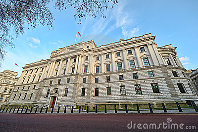 HM Treasury Building, London, England, UK