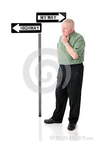 Free Hmm.  Which Way Stock Images - 51514814
