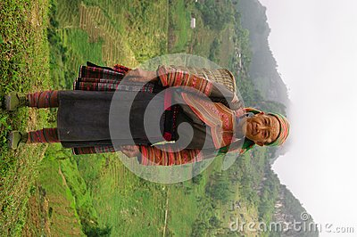 Hmong flowered Grandmother